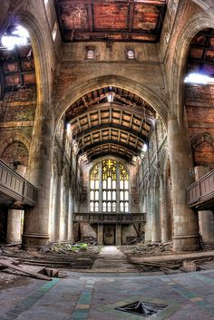 New abandoned things post on my blog - the BEAUTIFUL Methodist Church in Gary, IN