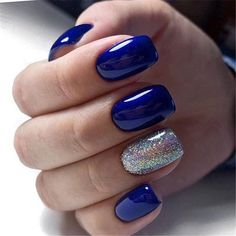 most popular color mixing nail art - Page 82 of 105 - Inspiration Diary Nails most popular color mixing nail art - Page 82 of 105 - Inspiration Diary Blue And Silver Nails, Royal Blue Nails, Navy Blue Nails, Blue Acrylic Nails, Acrylic Nail Designs, Cute Nails, Pretty Nails, Popular Nail Colors, Nail Candy