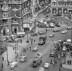 Leidseplein, Amsterdam in the sixties. Amsterdam City Centre, Amsterdam Holland, New Amsterdam, Amsterdam Pictures, Dutch Golden Age, The Old Days, Old Pictures, Netherlands, Borneo