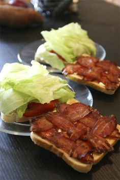 Weave the bacon before cooking for perfect BLT's