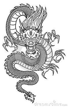 Front facing dragon