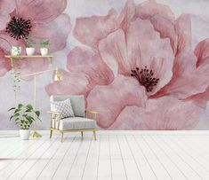 watercolor flower wallpaper pink cherry blossom wall paper f.-watercolor flower wallpaper pink cherry blossom wall paper for home bedroom Peel and Stick watercolor floral nursery decor mural wall art - Floral Nursery, Floral Wall, Nursery Decor, Flower Wallpaper, Wall Wallpaper, Bedroom Wallpaper, Pink Wallpaper For Room, Watercolor Wallpaper, Wallpaper Quotes