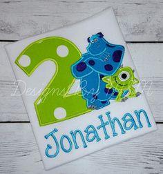 Monsters Inc. Birthday Shirt Mike and by DesignsByMMBoutique
