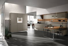 Wooden fitted kitchen WAY by Snaidero