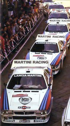 Lancia 037 pronte al via Rally   Sanremo