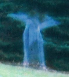Close-up of the angel in the picture. Why the wings? Read our idea on this, below.