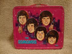 1973 The Osmond Brothers Metal Lunchbox  No Thermos Donny and Marie