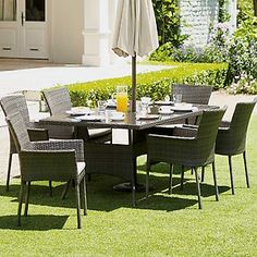 Mali 6 Seater Stacking Rattan Effect Garden Furniture Set