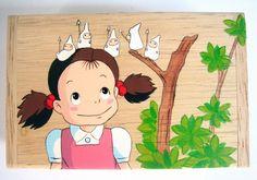 Items similar to My Neighbor Totoro Hand Paint wood Box May Jung Studio Ghibli 16 on Etsy Painted Wooden Boxes, Wood Boxes, Hand Painted, My Neighbor Totoro, Miyazaki, Studio Ghibli, Small Gifts, Anime, Cartoon