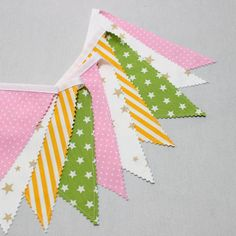 #Sweet Fabric Flag #Garland, Baby Shower, Baby Girl Nursery #Bunting #Banner Decoration, Bunting Banner, Girls Room Decor, #Easter Garland