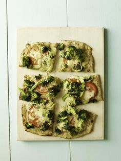Cheesy Broccoli and Tomato Flatbread #myplate #kid