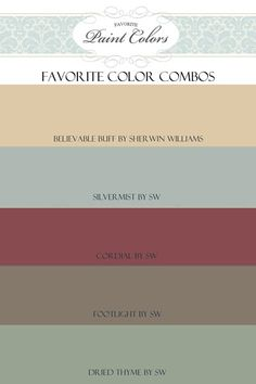 Favorite Paint Colors- combination for Believable Buff