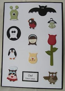 All the different things you can make with the Stampin Up Owl Punch!