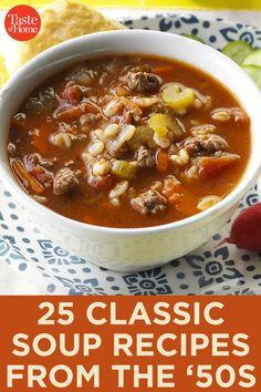 Beef Recipes, Soup Recipes, Cooking Recipes, Healthy Recipes, Hamburger Recipes, Barbecue Recipes, Recipies, Classic Soup Recipe, Soup And Sandwich