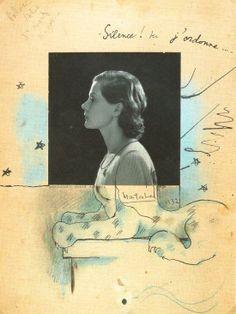 Jean Cocteau. Silence! Ici j'ordonne… (Nathalie Paley en sphinx) 1932 Scan personnel du catalogue de l'exposition Cocteau, Centre Pompidou 2004