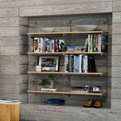 """48"""" Wide Two Bay Wall Mounted Shelves with Standards and Brackets (Shelving, Wall Mounted)   Preconfigured   ISS Designs   Modern shelving for home, office and retail."""