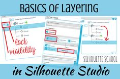 One little known tool in Silhouette Studio Designer Edition is the Layers function. Now before you think of layering, such as for vinyl, this is a slightly different concept. Silhouette School Blog, Silhouette Cutter, Silhouette Cameo Machine, Silhouette Vinyl, Silhouette Portrait, Silhouette Cameo Projects, Silhouette America, Silhouette Files, Shilouette Cameo