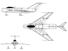 Mikoyan Gurevich MiG I-360 (1952) successful prototype which led to development of MiG-19  Early prototype (before May 1953) with T-shaped tail