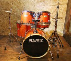 Mapex M Series Orange Lacquer 5-Piece Drum Kit (Pre-Loved)
