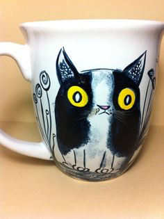 The Cats  mischievous coffee mug by InkyDreamz on Etsy, $25.00