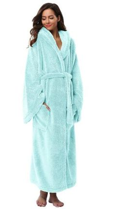 aaa0de2521 Winter Thick Warm Women Robes Bohemian Coral Fleece Sleepwear Long Robe  Woman Hotel Spa Plush Long Hooded Bathrobe Nightgown Kimono