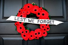 Remembrance Day Poppy Wreath | What are we doing today Mom? blog