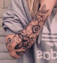 Half Sleeve Tattoos Forearm, Shoulder Sleeve Tattoos, Tattoos For Women Half Sleeve, Shoulder Tattoos For Women, Full Sleeve Tattoos, Women Sleeve, Female Tattoo Sleeve, Arm Tattoos For Women Forearm, Quarter Sleeve Tattoos