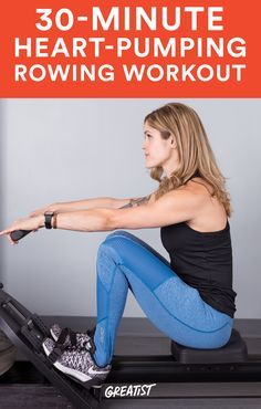 Cardio, strength, and a high-energy playlist? This workout has it all. #rowing #workout http://greatist.com/move/rowing-machine-workout-that-makes-time-fly-by