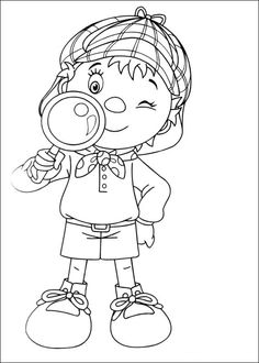 Noddy Coloring Pages 7