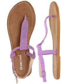 Braided T-Strap Sandal from WetSeal.com    #WetSealSummer  #Contest