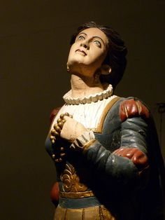 A ship's figurehead from the collection at The Museum of America and the Sea at Mystic Seaport in Connecticut,