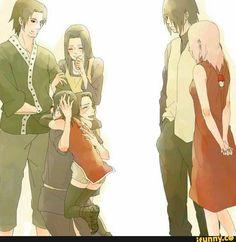 naruto, sasuke, sarada, sakura, uchiha