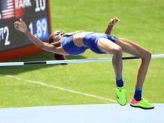 Vashti Cunningham (USA) during the women's high jump
