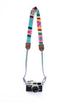 Image of Turquoise/Multi LBLAxTK camera strap