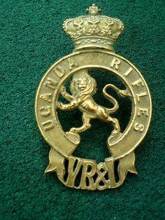 Uganda Rifles Badge VR (Victoria & India)