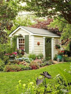 Are you looking garden shed plans? I have here few tips and suggestions on how to create the perfect garden shed plans for you. Backyard Studio, Backyard Sheds, Outdoor Sheds, Outdoor Rooms, Outdoor Living, Backyard Storage, Backyard Gazebo, Shed Design, Garden Design