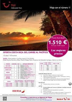 Oferta Costa Rica Del Caribe al Pacífico.De Mayo a Octubre con IB.10 noches.Precio final dsde 1.510€ ultimo minuto - http://zocotours.com/oferta-costa-rica-del-caribe-al-pacifico-de-mayo-a-octubre-con-ib-10-noches-precio-final-dsde-1-510e-ultimo-minuto/