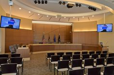 City of Richfield City Council Chamber. Audio and video systems integrated by Alpha Video & Audio Alpha Video, College Station, City Council, School District, Interior Design, Table, Audio, Public, Furniture