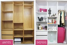 ZebraDelas - Blog de moda, beleza, decoração e DIY: Renovando o armário com papel contact | #ProjetoQuartoNovo