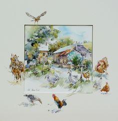 EP 41 | Aquarelle. 34 x 35 cm | 210 euros by Nicole Massiaux