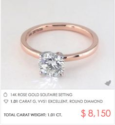 James Allen Rose Gold Engagement Rings - see how to customize at your price point!