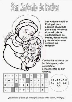 El Rincón de las Melli: Breve reseña de San Antonio de Padua con juego