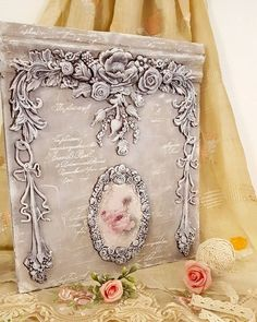 Fashion Project, Clay Crafts, Mixed Media Art, Vintage Fashion, Vintage Style, Decoupage, Decorative Boxes, Wall Art, Projects