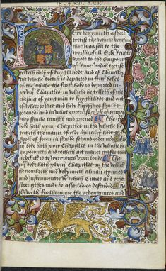 Initial 'H'(ere) of the arms of Richard III; from Vegetius, De re militari (The Book of Vegecy of Dedes of Knyghthode), England (London?), c. 1483-1485, Royal MS 18 A. ii, f. 1r