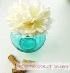 Delightfully Noted: How to Color Glass:Technique Numero Uno