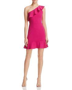 49.50$  Watch now - http://viaah.justgood.pw/vig/item.php?t=2um3074402 - AQUA One Shoulder Ruffle Dress - 100% Exclusive