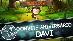 Convite Animado Aniversário (Safari) - Davi