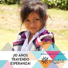 ¡Celebra diez años de servicio de Foundation 4Life, haciendo la diferencia con un proyecto en tu comunidad! 1. Busca un proyecto que puedas apoyar o hacer. 2. Invita a tu equipo y amigos que te apoyen. 3. Toma fotos y súbelas en las redes sociales con la etiqueta #UnidosenServicio #UnitedinService
