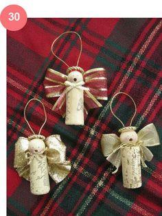 Wine cork Angel ornaments.
