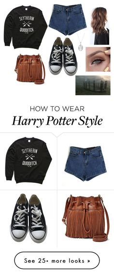 "id have it if it was ravenclaw ⭐""Untitled #187"" by rainvillemarissa on Polyvore featuring FOSSIL, Converse and Pandora"